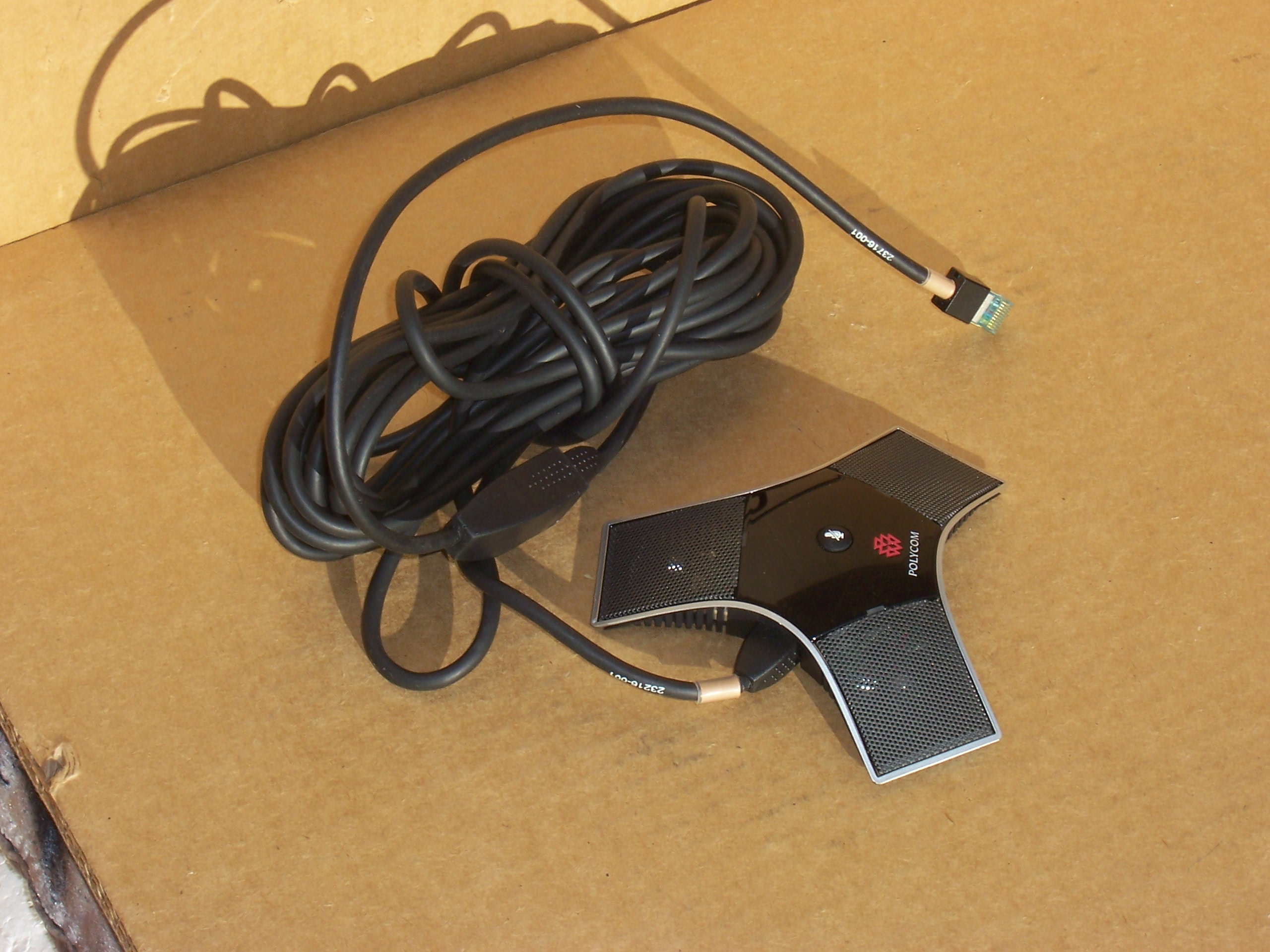 POLYCOM 2201-23313-003 Table Microphone With 23216-001 and 23716-001