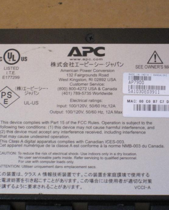 APC AP7900 Switched Rack PDU 15A/100/120V Surge Protector Strip NEMA 5-15P-1969