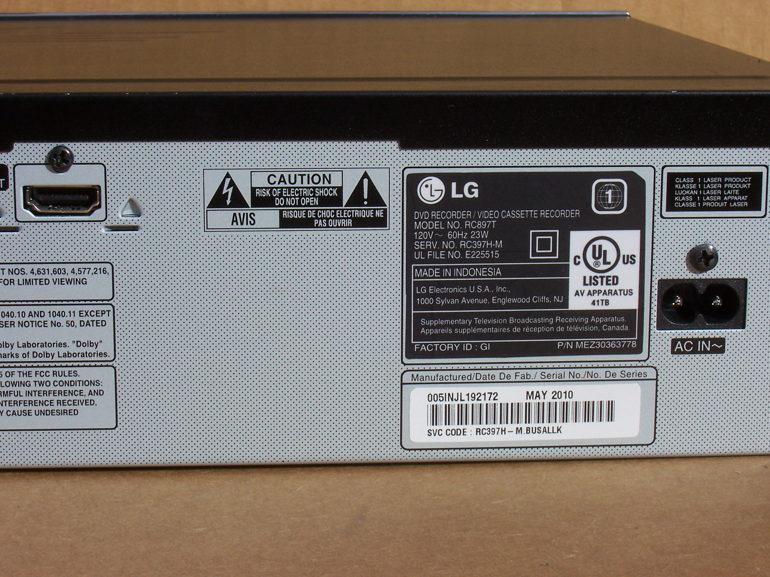 LG RC897T Super Multi DVD-Recorder ...