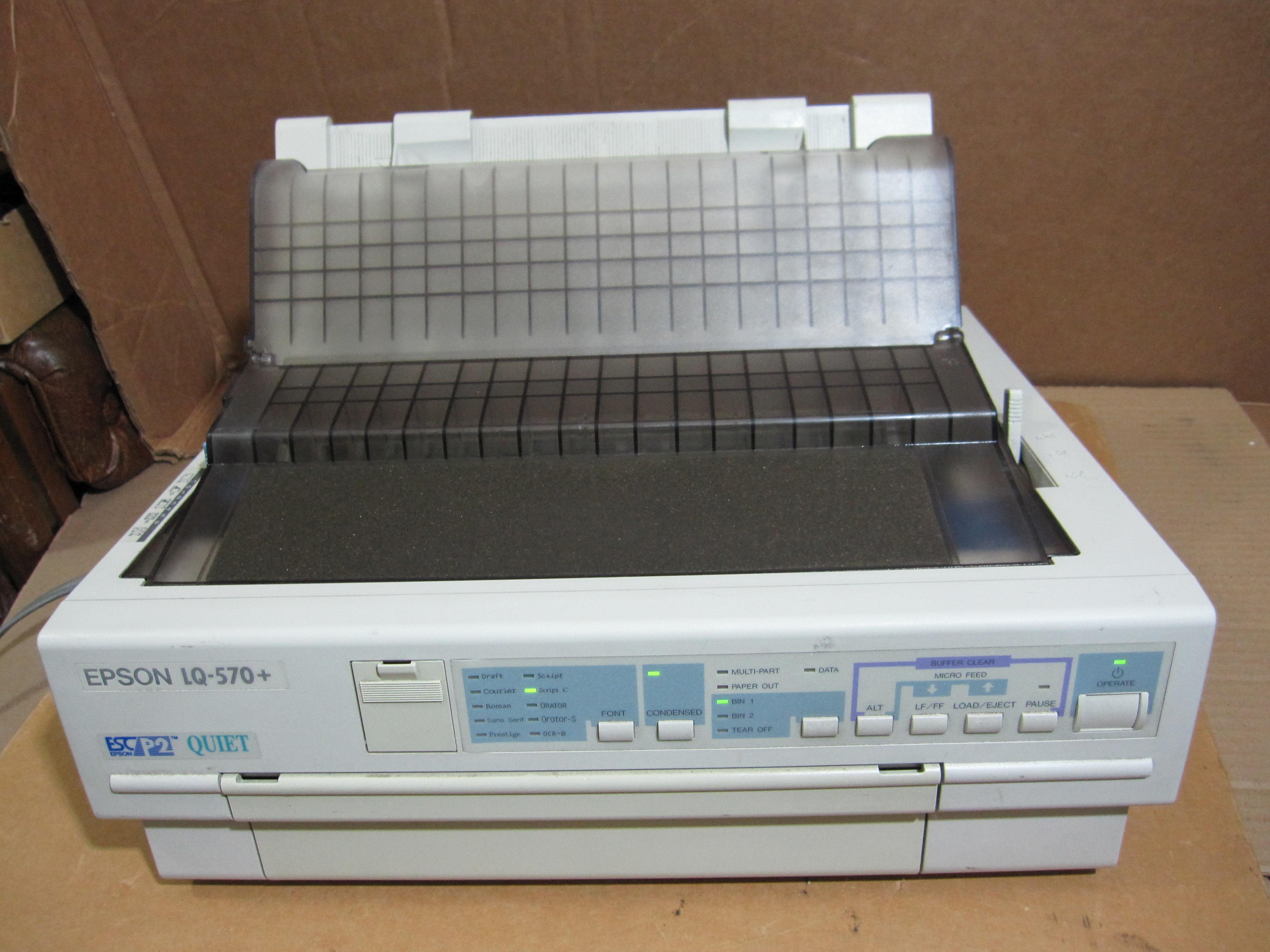 Epson LQ-570e Impact Network Printer Windows Vista 32-BIT
